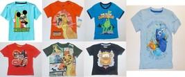 Disney Toddler Boys T-Shirts Mickey Lion King Dory Cars ETC Various Size... - $9.79