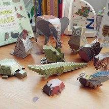 DIY Paper Cut Animal Cardboard 3D Puzzles Book Menagerie Handmade Craft ... - $17.75
