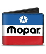 Wallet - Mopar Chrysler Red White Blue Logo Bi-Fold - $17.99