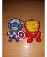Marvel Captain America And Iron Man Plushies - $20.90