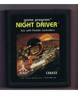 ORIGINAL Vintage 1978 Atari 2600 Nigh Driver Game Cartridge - $13.99
