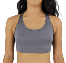 NEW W SPORT WOMEN'S ATHLETIC GYM SPORT WORKOUT BRA CROP TOP GRAY AP-4823