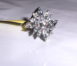 BLUE TANZANITE MARQUISE COCKTAIL RING, PLATINUM / 925 SILVER, SIZE 8, 2.25(TCW) - $59.99