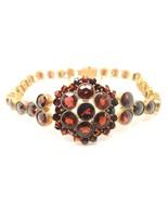 Genuine Natural Bohemian Garnet Bracelet with Star Cut Garnets (#J3825) - $448.88
