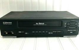 Emerson EWV401B VCR VHS 4 Head Tested no remote no cords black - $34.30
