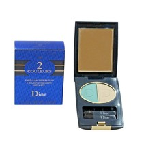 DIOR 2 COULEURS WET& DRY 2-COLOUR EYESHADOW 2.3G #325 DIORLAGOON NIB - $37.13