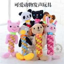 Pet Funny Puppy Grinding Teeth Squeaker Training Toys Pet Mixed Color Bell Rope - $7.19