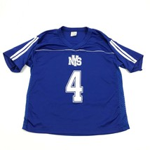 National Youth Sports Dry Fit Shirt Youth Size Large L Blue Relaxed Shor... - $17.83