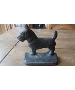 ANTIQUE HEAVY Scottish Terrier Doorstop Bookend 5 x 5 x 2 inches - $148.49