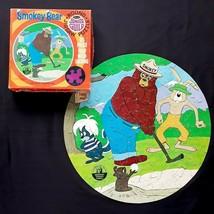 Vintage Smokey Bear Round Puzzle Whitman Junior Guild 125 Pieces 1970 COMPLETE - $19.99