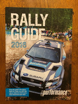 2016 Rally Guide Subaru Show Car SRT USA Rally, rallycross program booklet - $4.99