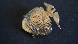 Los Angeles Airport Security officer Hat Badge Vintage 1960's,Hallmark Entenmann image 3