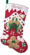 DIY Bucilla Gingerbread House Cookie Candy Christmas Felt Stocking Kit 85102 - $48.95