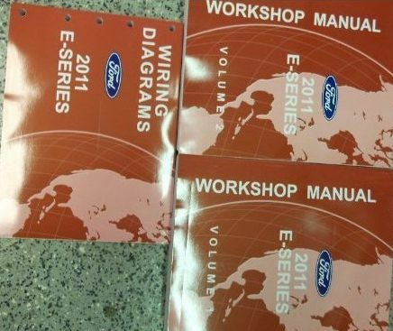 2011 FORD ECONOLINE E150 250 350 E-Series Van Service Repair Shop Manual Set OEM