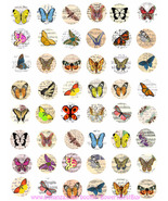 vintage butterfly postcards clipart digital downloadable collage sheet 1... - $3.99