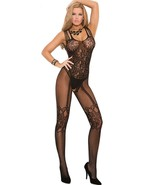 Women  Sexy Lingerie Much-loved Floral Motif Mesh Body Stockings Free Size - $21.50