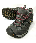 Keen Oakrdige Womens 6 Gray Leather Mesh Hiking Shoes Low Top Boots - $40.98