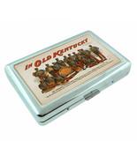 Vintage Poster D106 Silver Cigarette Case Holder In Old Kentucky Band - $13.95