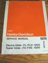 1970 - 1974 Harley-Davidson Super Glide Electra Glide SERVICE SHOP MANUAL - $108.90
