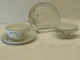 Spring Wheat by Fine China of Japan H15710 Flat Cup and Saucer set of 2 - $9.89