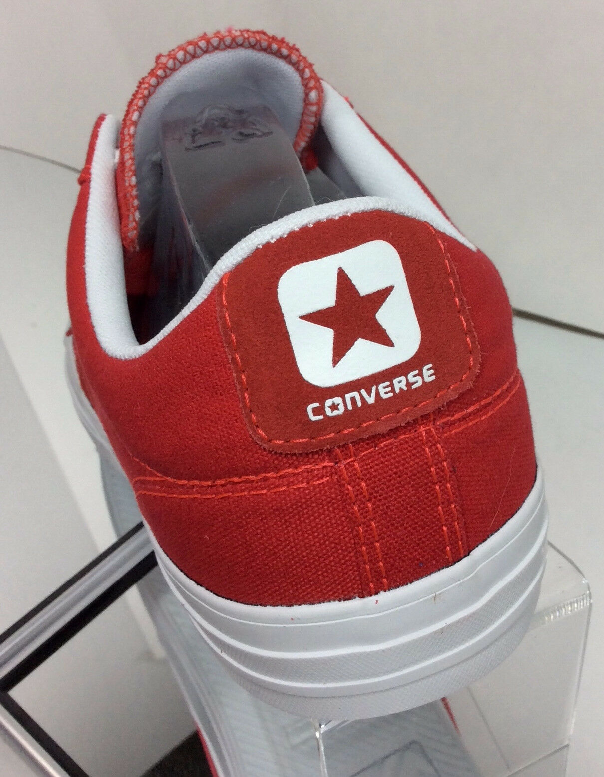 NEW CONVERSE Star Player Ox Red/White Canvas Trainers 142169C (Size 11.5)