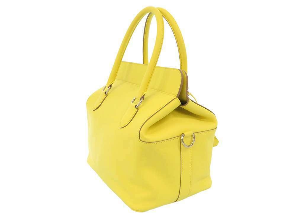 HERMES Toolbox 26 Veau Swift Soufre Handbag Shoulder Bag France #Q Authentic image 2