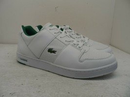 Lacoste Men's Thrill 319 1 Leather Athletic Casual Shoes White/Green Siz... - $66.49