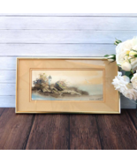 Lighthouse Cove Watercolor Framed Original Painting Signed Barbara Krupp - $199.00
