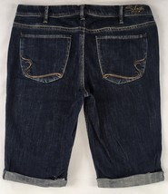 SILVER JEANS Sale Buckle Mid Rise Lyla Dark Denim Stretch Jean Bermuda S... - $33.33