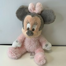 "Disney Parks Baby Minnie Mouse Super-Soft Rattle Plush Doll Toy 9"" Pink ... - $11.99"