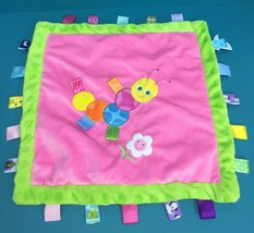 Mary Meyer Taggies Pink Green Caterpillar Plush Toy Security Blanket Baby Lovey - $13.95