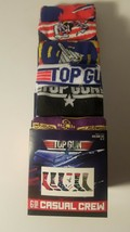 top gun movie mens casual crew socks fits shoe size 8 12 6 pairs new in ... - $23.95