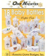 18 Baby Bottles One Nighters Jeanette Crews Cross Stitch Pattern Leaflet - $2.86