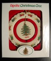Spode Christmas Tree Ornament 2000 May Company Exclusive Plaid Ribbon Boxed - $12.99