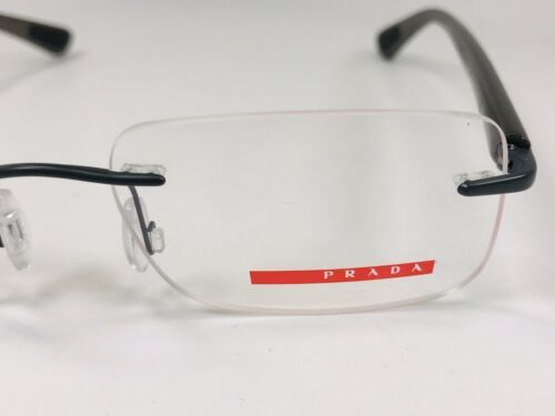 New PRADA SPORT VPS 54C AAG-1O1 Grey Rimless Eyeglasses 51mm with Case