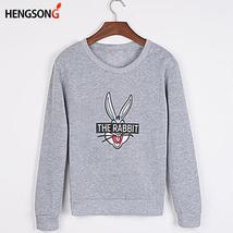 New Autumn Winter Women Fashion Cute Cartoon Bugs Bunny Printed Sweatshi... - $11.52+