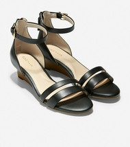 Women's Cole Haan Abriella Leather Wedge Sandals, W19578 Multiple Sizes Black  - $99.95