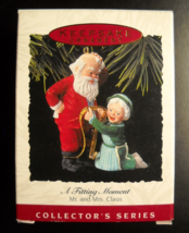 Hallmark Keepsake Christmas Ornament 1993 A Fitting Moment 8th in Mr Mrs... - $6.99
