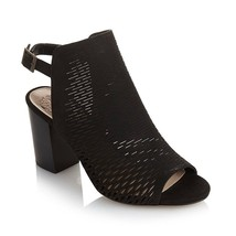 """Vince Camuto """"Madesti"""" Perforated Leather Sandal BLACK SIZE 5.5 - $69.29"""