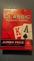 2x TWO Brand New & Sealed Classic Playing cards Red JUMBO face Blue + RE... - $8.74