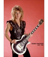 Ozzy Osbourne Band Randy Rhoads 1980's Memorial Poster Stand-Up Display ... - $16.99