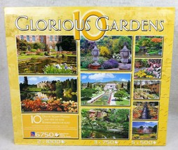GLORIOUS GARDENS 10 Deluxe Jigsaw Puzzles in One Box SEALED Sure-Lox 407... - $37.78