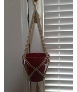 Macrame Plant Hanger, Retro Hanging Plant Holder, Boho Housewarming Gift - $13.85+