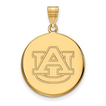 Sterling Silver w/GP LogoArt Auburn University Large Disc Pendant - $68.00