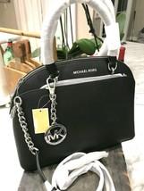 NWT Michael Kors EMMY Large Dome Saffiano Leather Satchel Shoulder Bag R... - $159.95