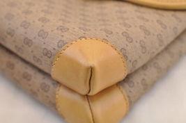 GUCCI GG Canvas Shoulder Bag Brown PVC Leather Auth sa1823 **Powder image 10