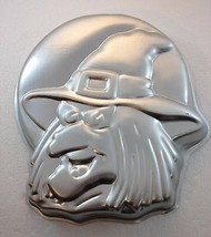 Wilton Wicked Witch Aluminum Cake Pan Mold 2105-4590 1990 Halloween - $33.81