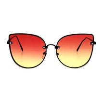 Foxy Round Cateye Butterfly Sunglasses Womens Fashion Ombre Color Lens - $11.95