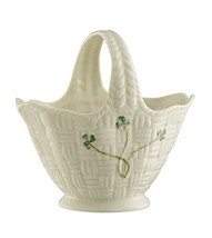 Belleek Pottery Shamrock Handled Basket - $54.64