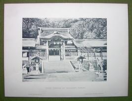 JAPAN Suwa Temple at Nagasaki - 1880s Photogravure Print - $21.60